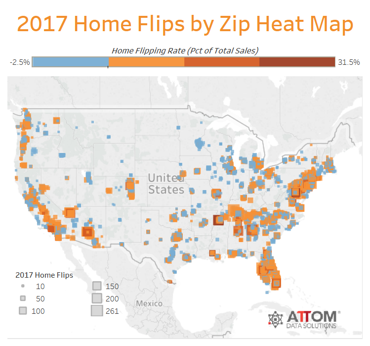 attom 2017 u s home flipping report 1