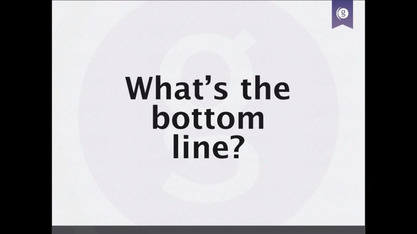 pa Slide 13 Whats the Bottom Line