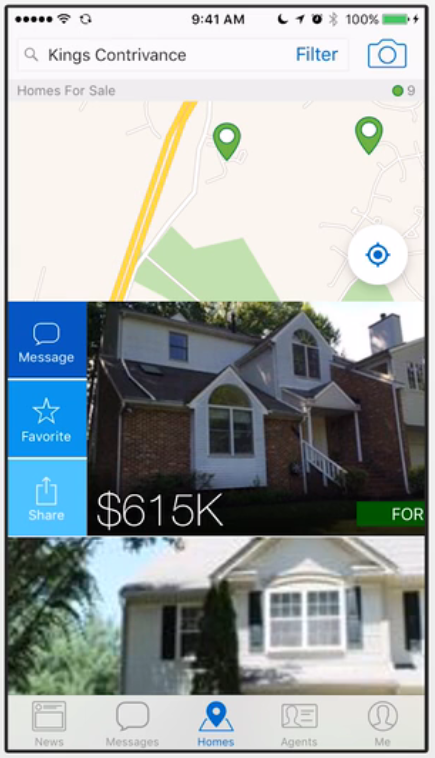 homesnap updates swipe