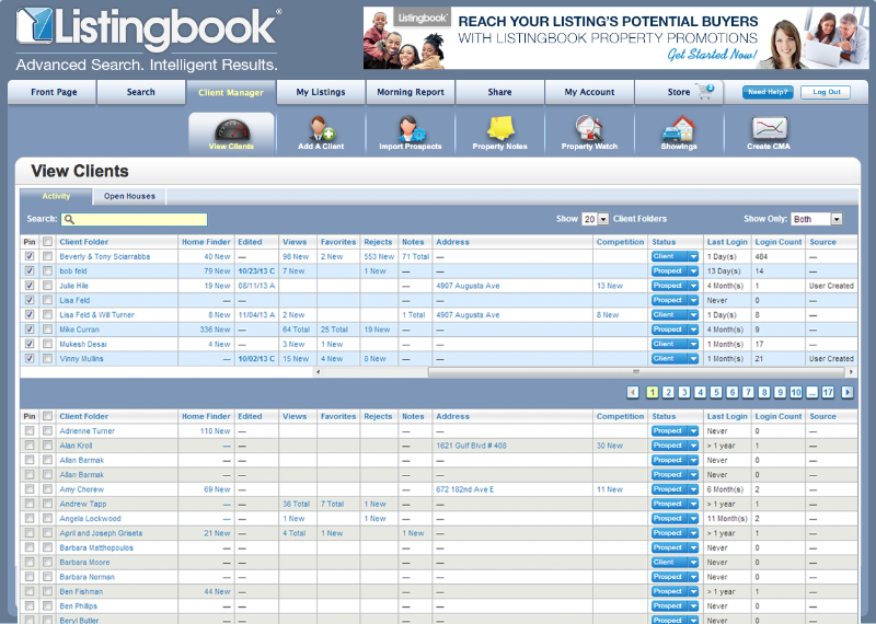 listingbook ClientManager