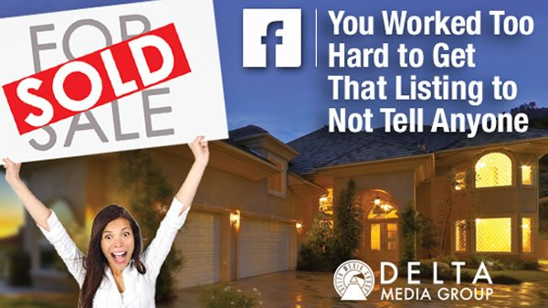 delta automatically post sold idx listings to facebook