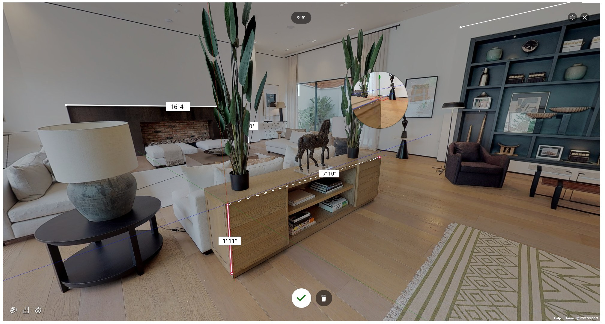 Matterport Measurement Mode