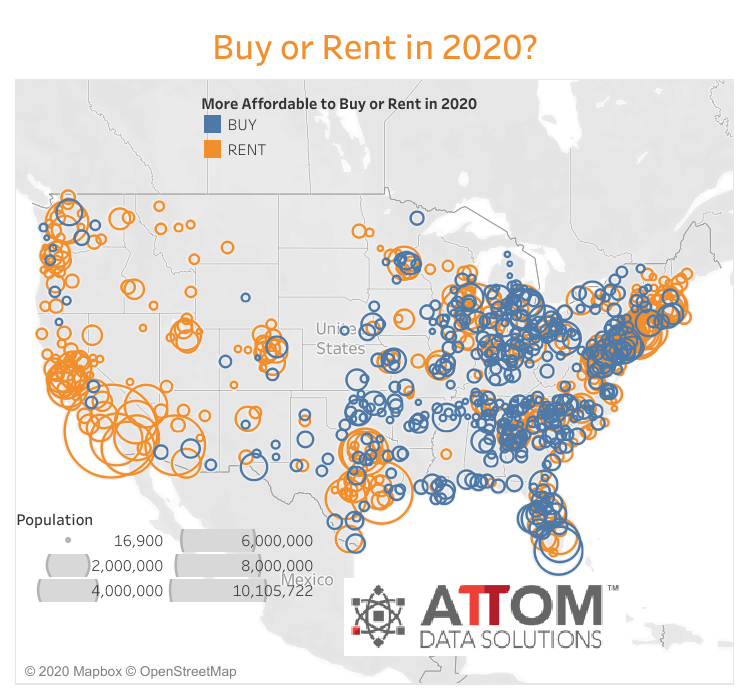 attom data solutions 2020 rental affordability report