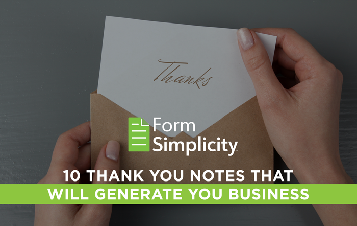 fs 10 thank you notes lead gen