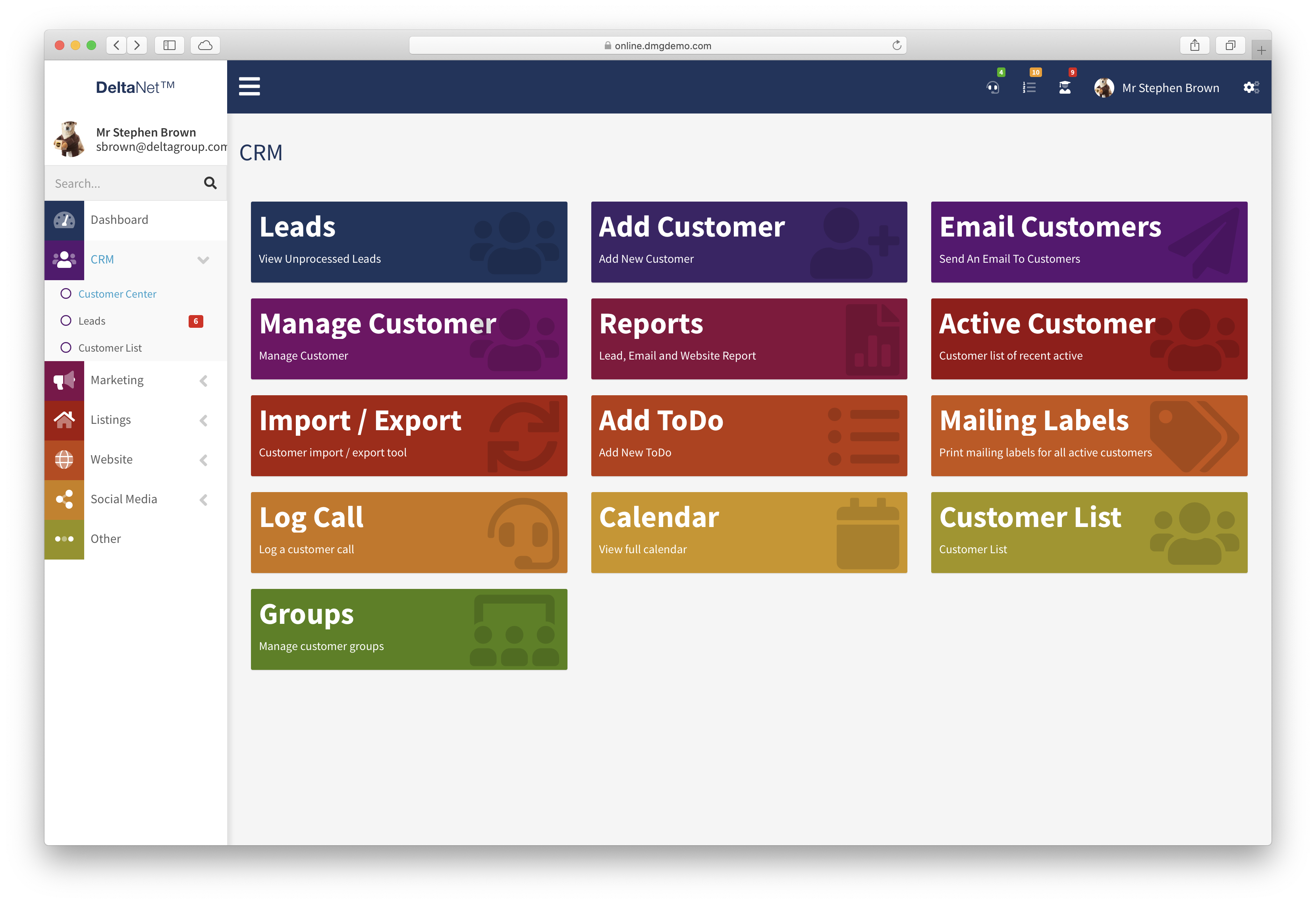 Delta crm screenshot 1