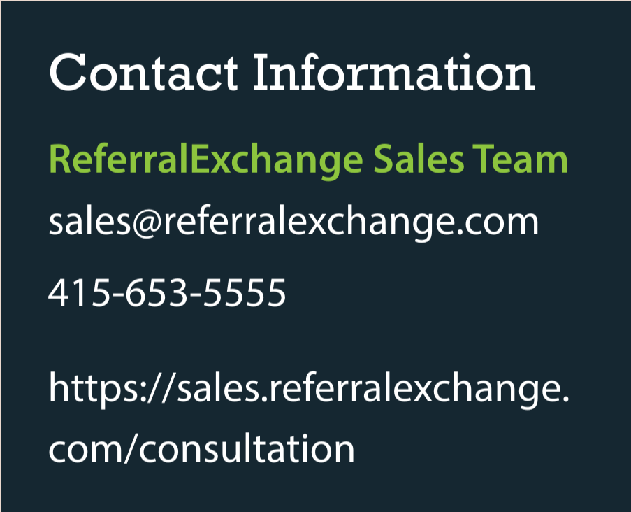 contact referralexchange