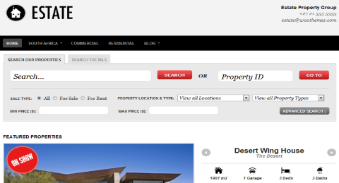 Estate WordPress Theme for Real Estate
