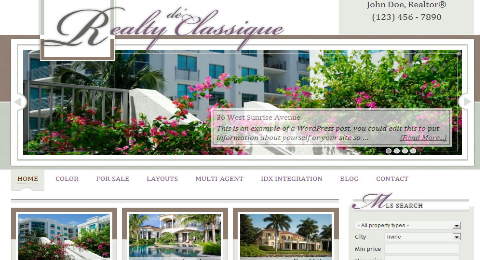 classique real estate theme