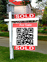 for sale sign qr code sold